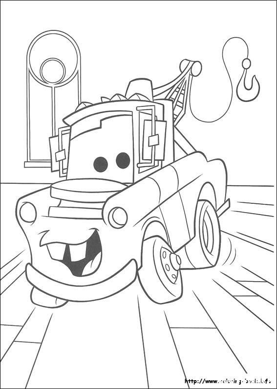 他很喜欢赛车总动员吧,我找到一些赛车总动员涂色画,可以打印出来